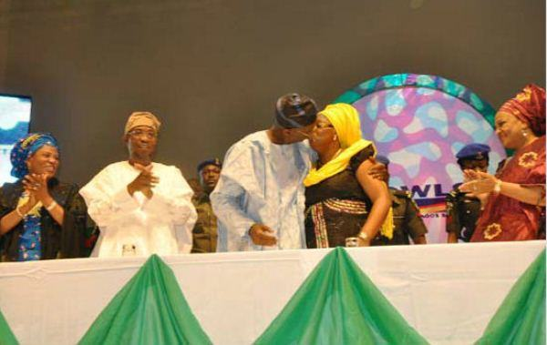 Fashola and wife pictured kissing