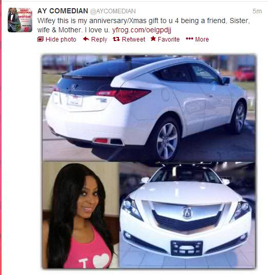 AY Buys Acura-ZDX as Xmas Gift for Wife