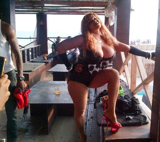 Cossy Orjiakor Shooting Her Music Video