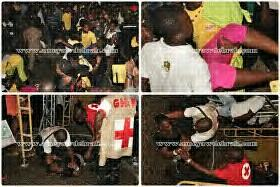 Girls Fainting At P-Square's Concert In Ghana
