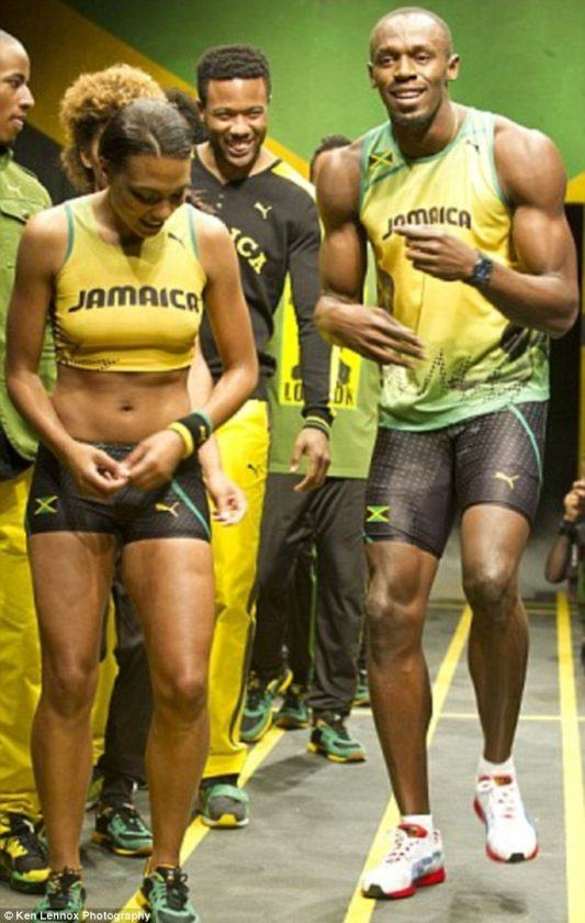 Usain Bolt and girlfriend