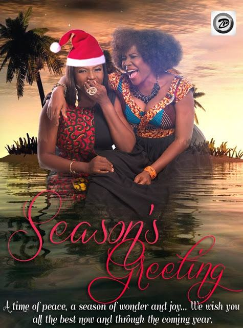 Waje and Omawunmi's christmas card
