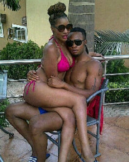 Flavour Nabania and his girlfriend