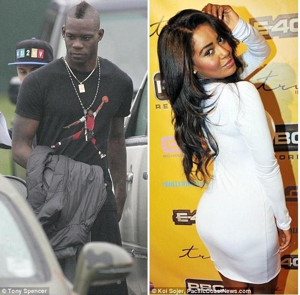 Mario Balotelli and Tabby Brown