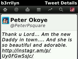 Peter Okoye post