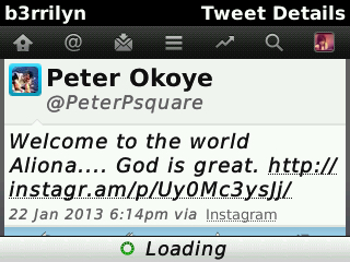 Peter Okoye tweet