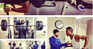 Wizkid and Tinie Tempah at the Gym
