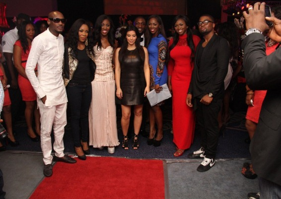 2Face, Kaffy, Zaina, Kim Kardashian, Darey, Tiwa Savage, Waje and Mo Eazy