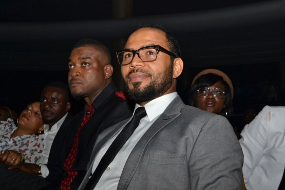 Chidi Mokeme and Ramsey Nouah at LLAM concert