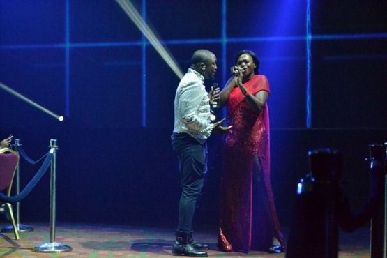 Darey and Waje performing at LLAM concert NaijaVibe