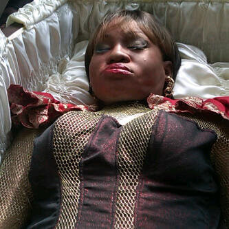 Goldie lying in state