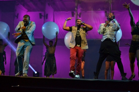 Mo Eazy, Ice Prince and Darey performing at LLAM concert