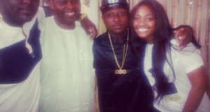 ⁠Davido and Siblings With Their Dad