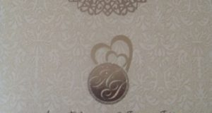 2face and Annie Macaulay's traditional wedding invitation card