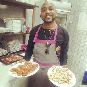 Banky W shows off his cooking skills