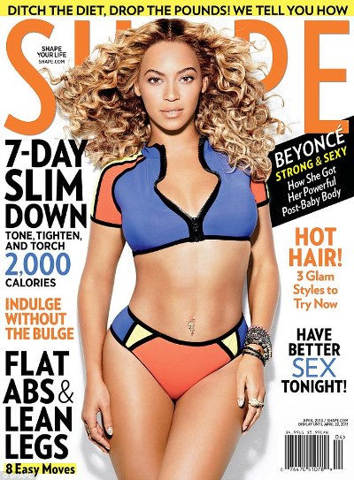 Beyonce's Sultry Post-Baby Figure As She Covers SHAPE Magazine