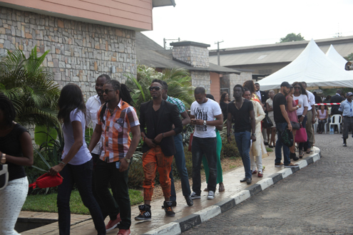 Big brother auditions in Lagos