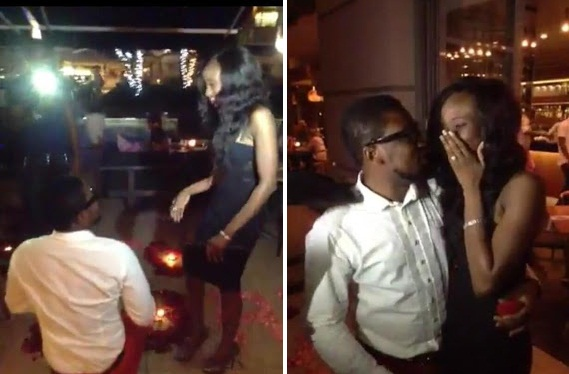 Dotun of Cool FM proposes to D'banj's younger sister Taiwo Oyebanjo