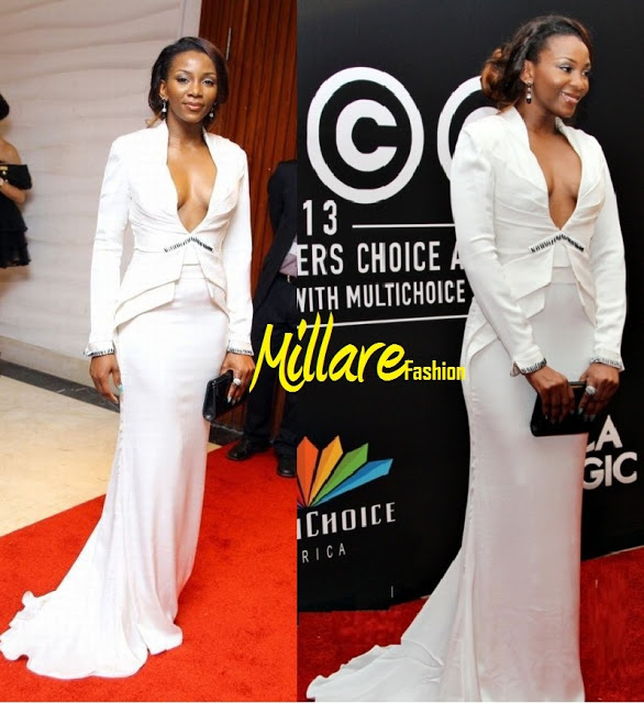 Genevieve Nnaji shows off boobs at AMVCA