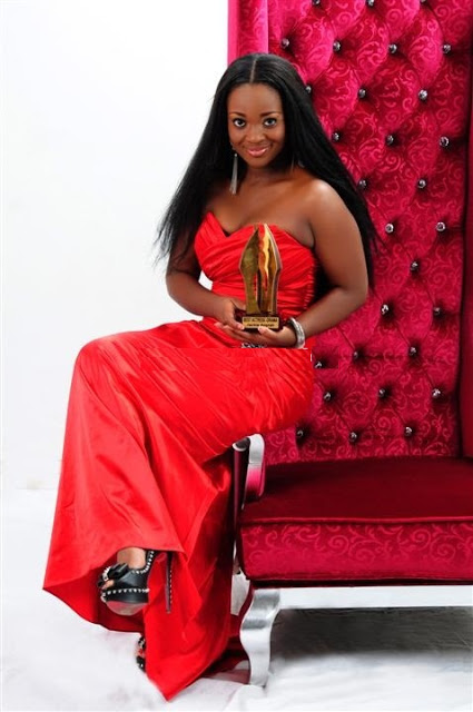 Jackie Appiah Unveils New Photos As She Flaunts Her Recent AMVCA statuette