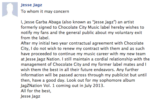 Jesse jags leaves Chocolate City
