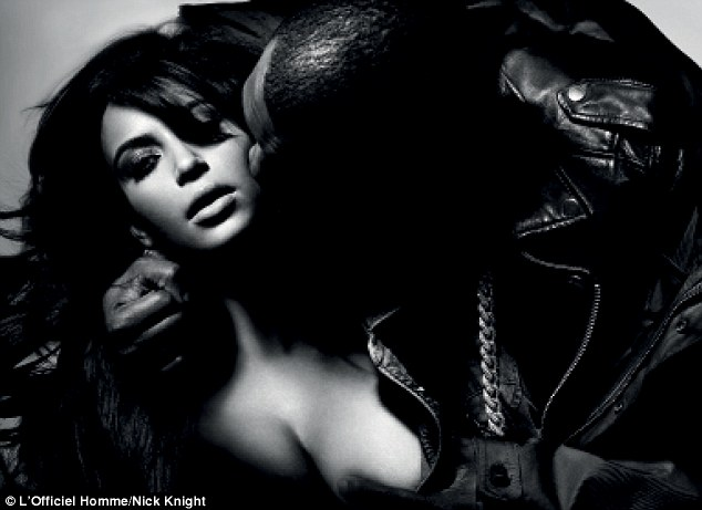 Kanye Caresses Kim Breast in Steamy photoshoot for French magazine