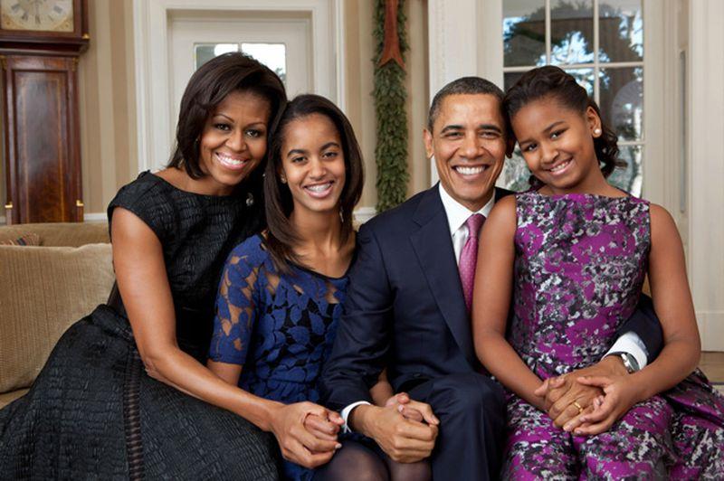 Michelle Obama, Malia, President Barack Obama