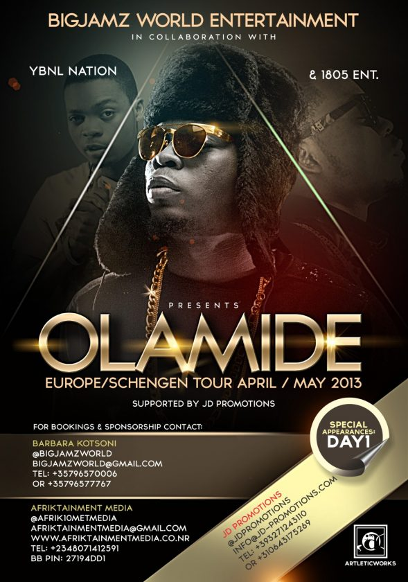 Olamide 1st Ever Europe Tour