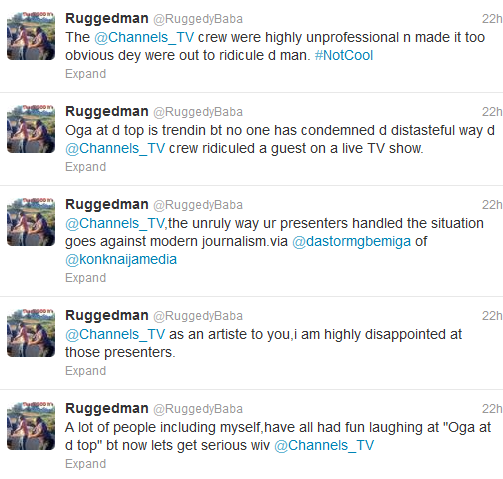 Ruggedman blasts channels TV presenters