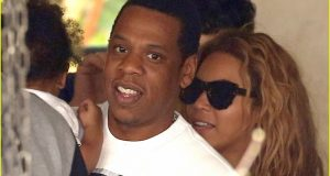Beyonce, JayZ and Blue Ivy together