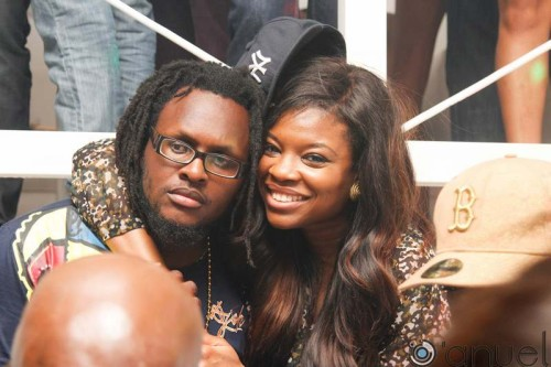 CLARENCE PETERS AND KEMI ADETIBA - Banky W's Birthday Party