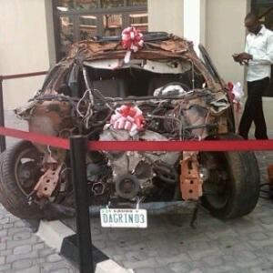 Dagrin's Crashed Car Decorated