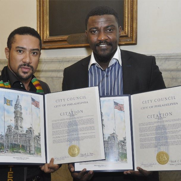 John Dumelo And Majid Michel Honoured By The City Of Philadelphia