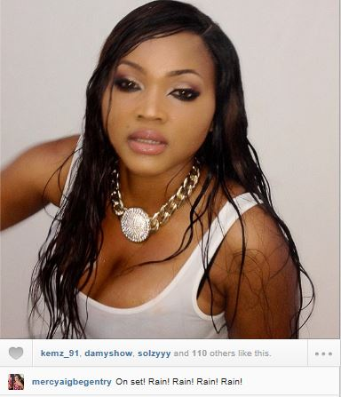 Mercy Aigbe reveals her wet & sexy side