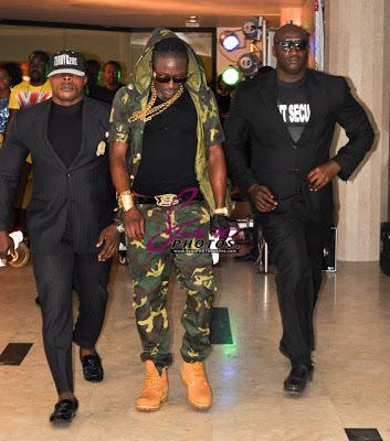 Terry G and his hefty bodyguards