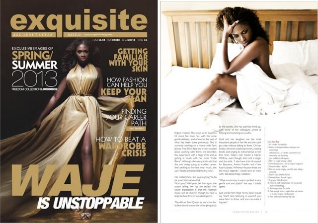 Waje Covers Exquisite Magazine