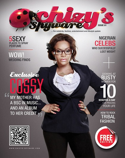 Cossy Orjiakor covers Chizy's spyware magazine Maiden edition