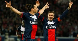 David Beckham and Zlatan Ibrahimovic