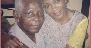 Genevieve Nnaji and dad