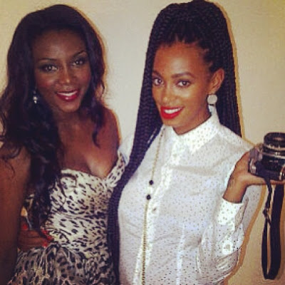 Genevieve Nnaji spotted with Solange