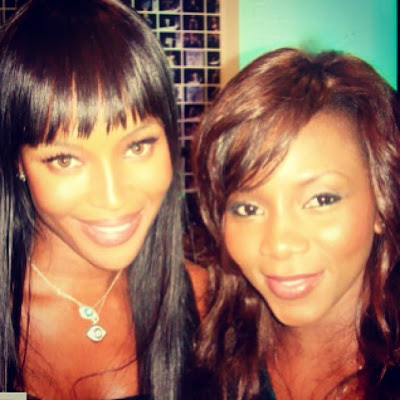 Genevieve Nnaji with Naomi Campbell