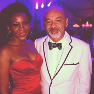 Genevieve with Creator of louboutin shoes