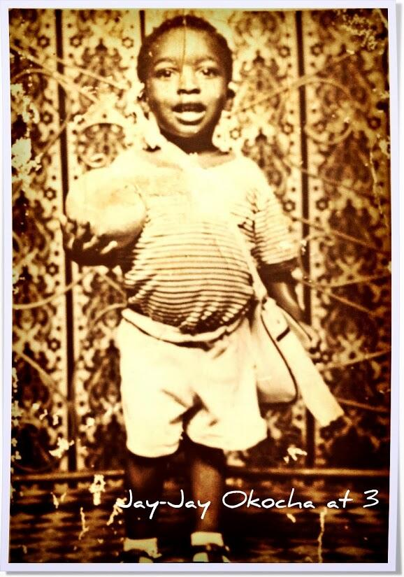 Jay Jay Okocha shares a picture of himself at age 3