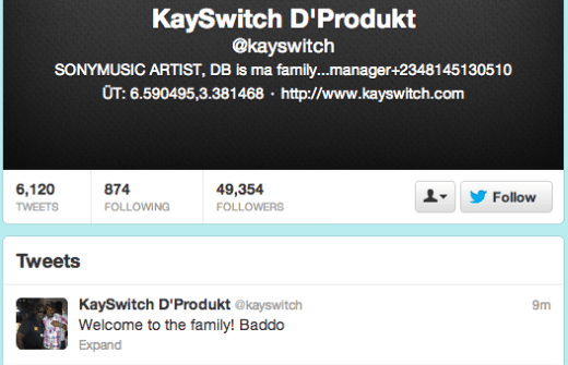 Kayswitch welcomes olamide