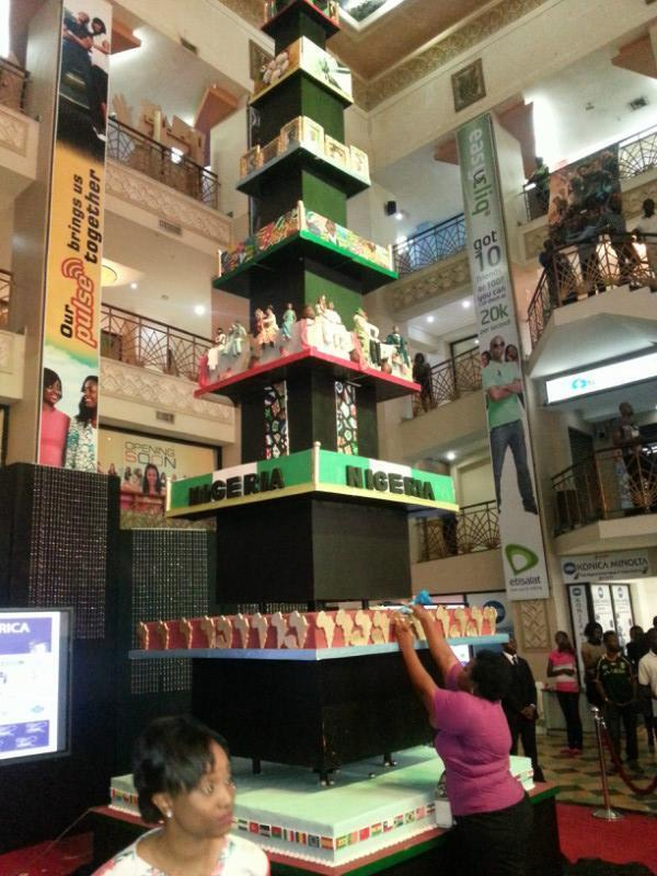 Tosan Jemide unveils the tallest cake in Africa NaijaVibe