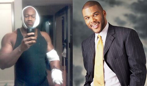 Tyler Perry and Walter Hampton