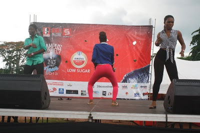 dancing competition with students