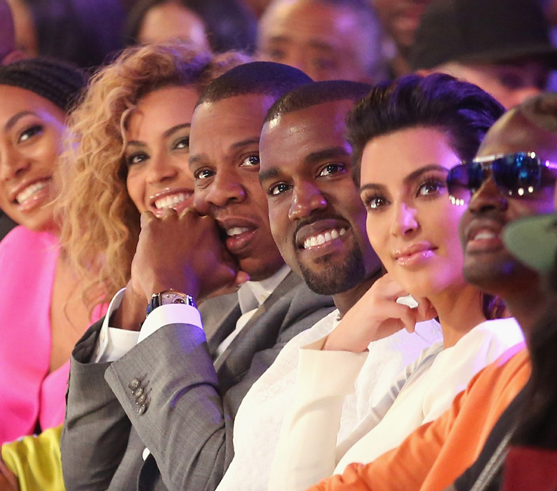 Beyonce, Jay Z with Kim and Kanye