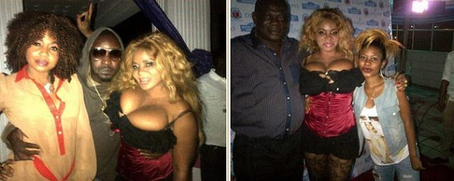 Cossy Orjiakor unleashes her boobs at fashion show in Bayelsa
