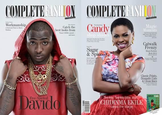 Davido and Chidinma lovely cover of Complete Fashion Mag